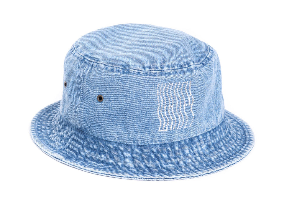 Denim Rhinestones Bucket Hat