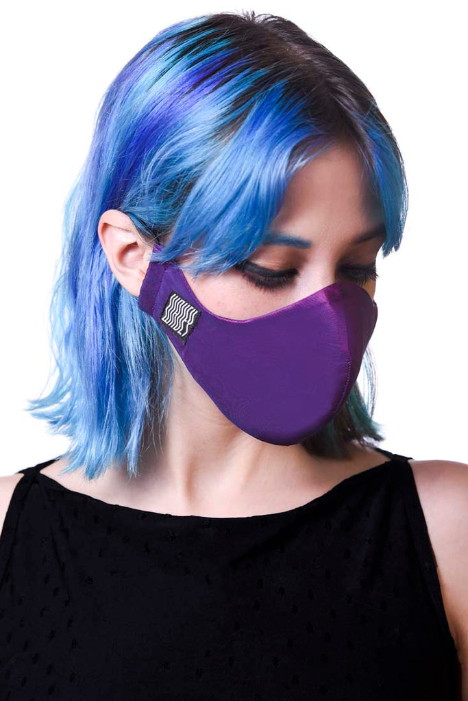 Violet Wavey Facemask