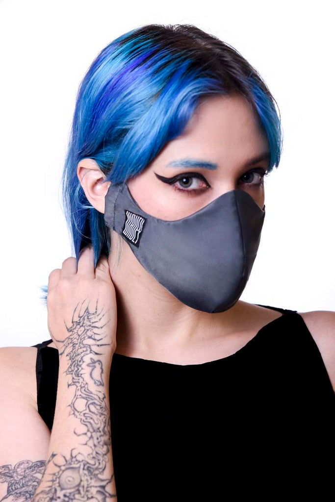 Dark Grey Wavey Facemask