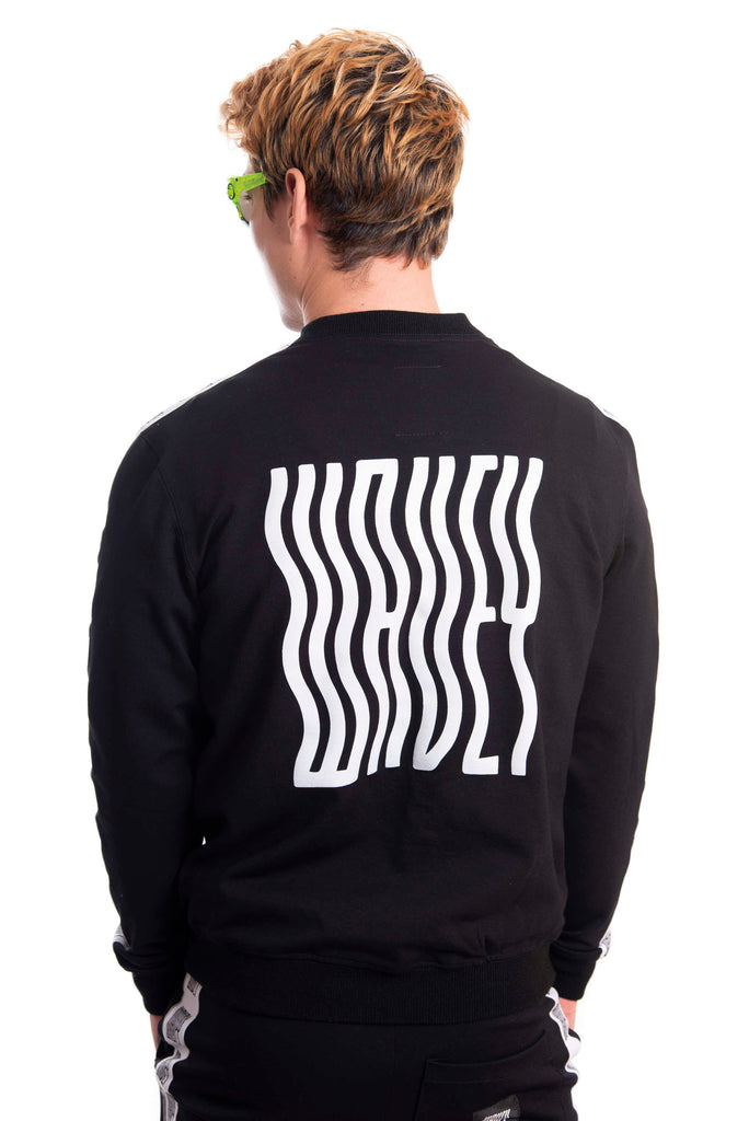 Midnight Black Track Sweater