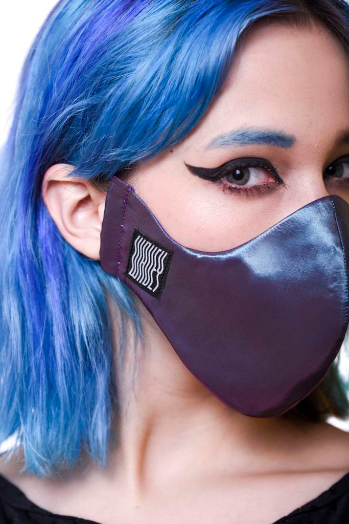 Iridescent purple Wavey Facemask