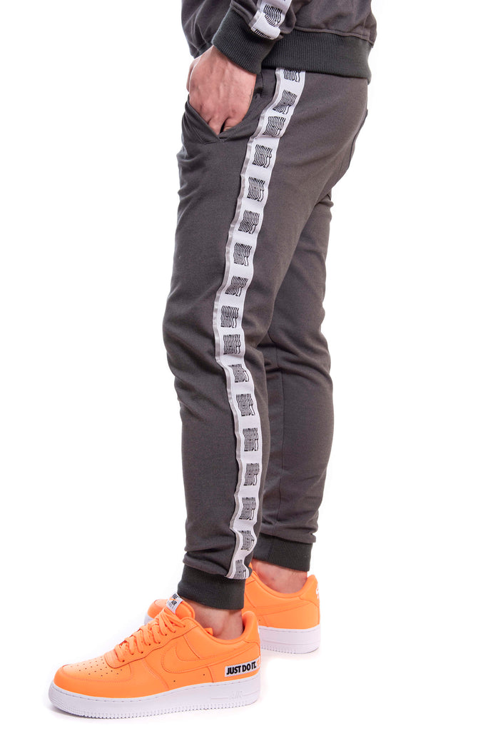 Cool Grey Reflective Logo Track Pants