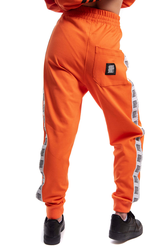 Industrial Orange Reflective Logo Track Pants