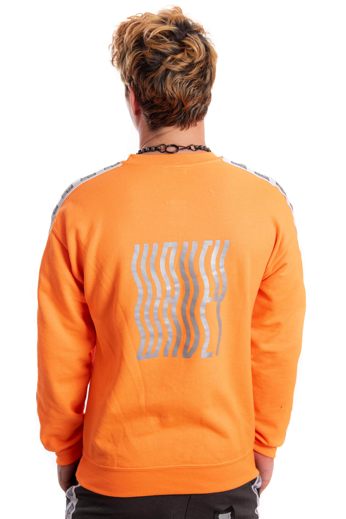Neon Orange Reflective Logo Sweater