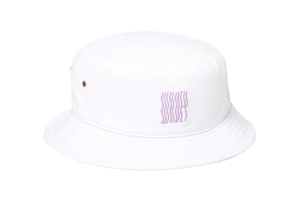 White Lilac Wavey Bucket Hat