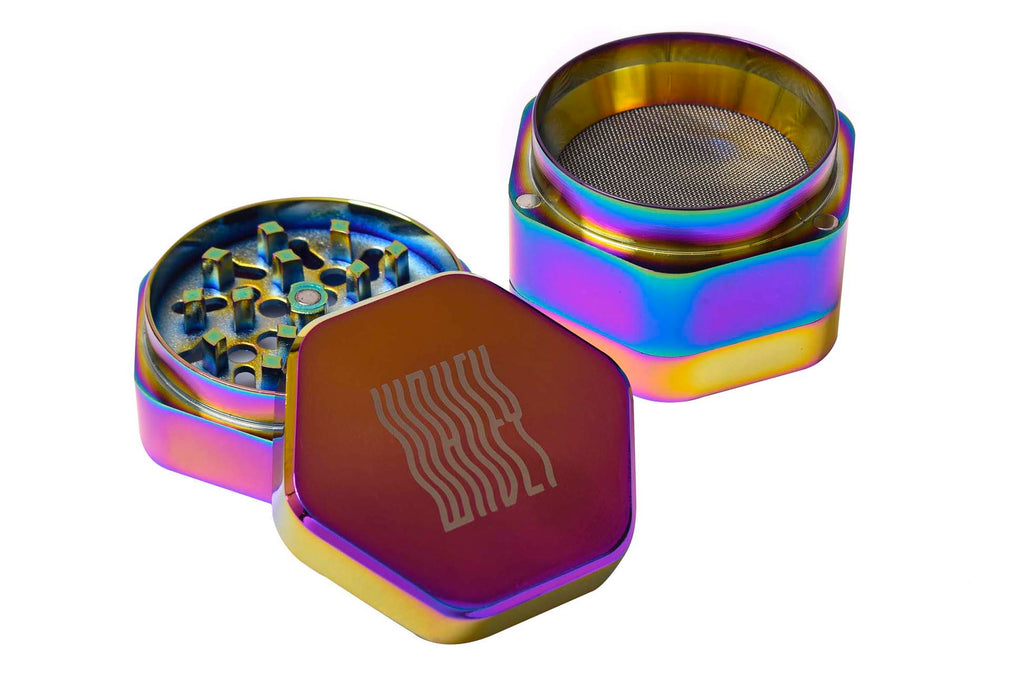 Iridescent Metallic Hexagon Grinder
