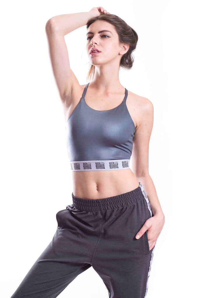 Silver Grey Sporty Spice Top