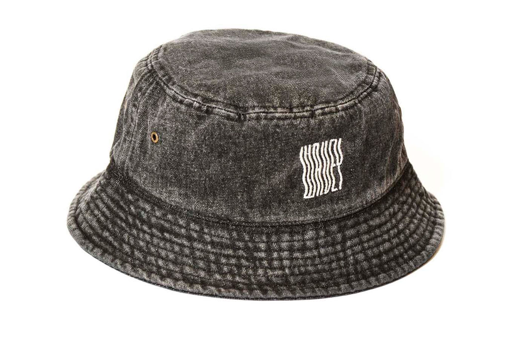 Dark Grey Denim Bucket Hat