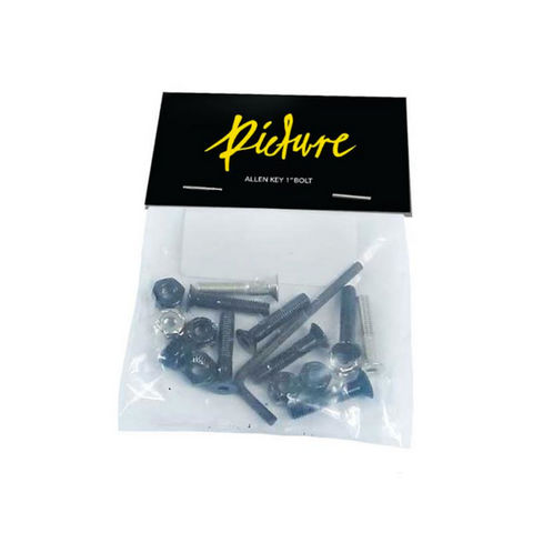 Picture Allen Head Bolts / 1'' / Black