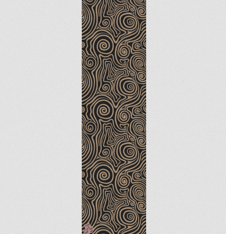 Fruity Griptape Single Sheet | Swirly Clear / Black