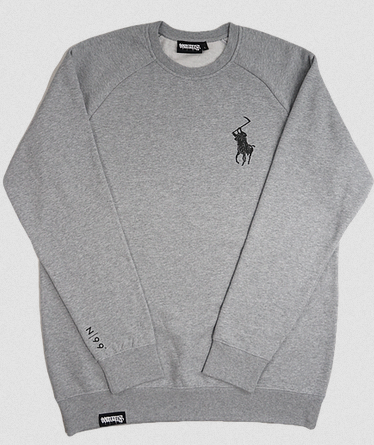 99 Degrees Reaper Crew Neck / Heather Grey