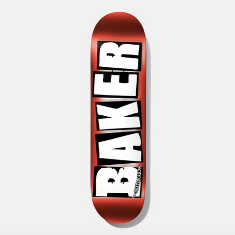 Baker Team Brand Logo Red Foil Deck / 8.25''