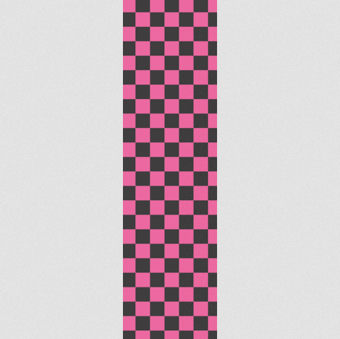 Fruity Griptape Sheet Single / Pink & Black Checkers