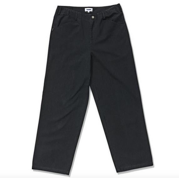 X-Large Herringbone Twill 91' Pants / Black