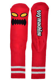 Toy Machine Monster Socks Red