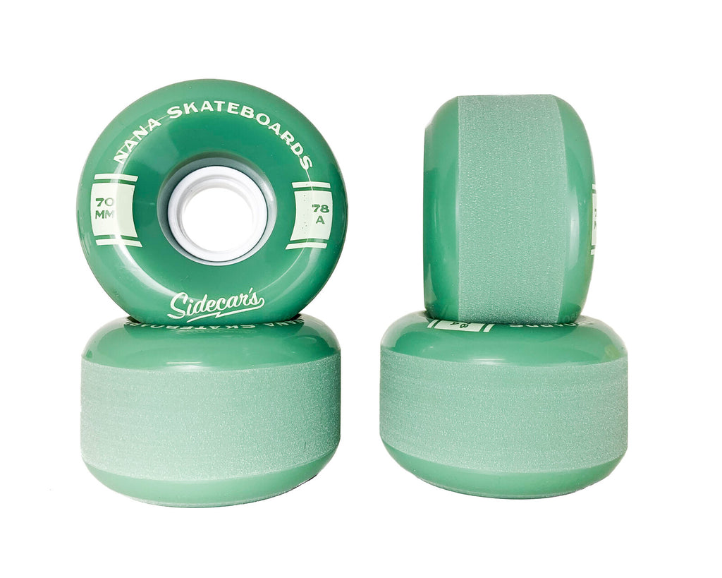 Nana Wheels Sidecars / Green / 70MM