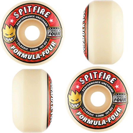 Spitfire wheels F4 classic 101D - 335 Skate Supply