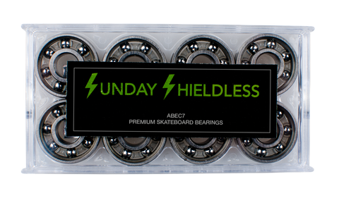 Sunday Hardware abec 7 Shieldless Bearings - 335 Skate Supply