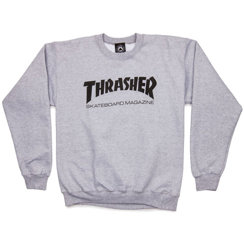Thrasher Skate Mag Logo Crewneck Grey - 335 Skate Supply