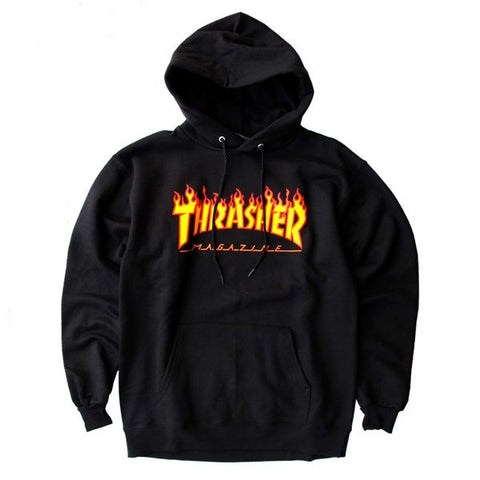 Thrasher Flame Logo Hoodie Black - 335 Skate Supply