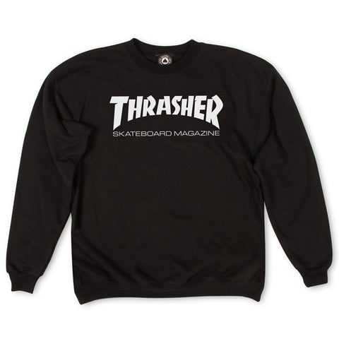Thrasher Skate Mag Logo Crewneck Black - 335 Skate Supply