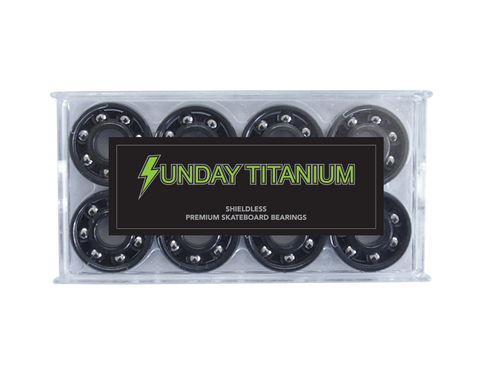 Sunday Hardware Titanium Shieldless Bearings - 335 Skate Supply