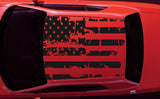 2008-2018 Dodge Challenger American USA Flag Roof Decal