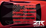 2008-2019 Dodge Challenger American USA Flag Roof Decal