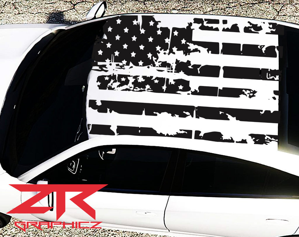 2015 2017 Dodge Charger American Usa Flag Roof Decal Ztr Graphicz
