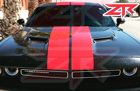 2015-2020 Dodge Challenger Dual Racing Stripes Vinyl Kit SXT R/T