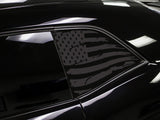 Dodge Challenger Distressed American Flag Window Decals
