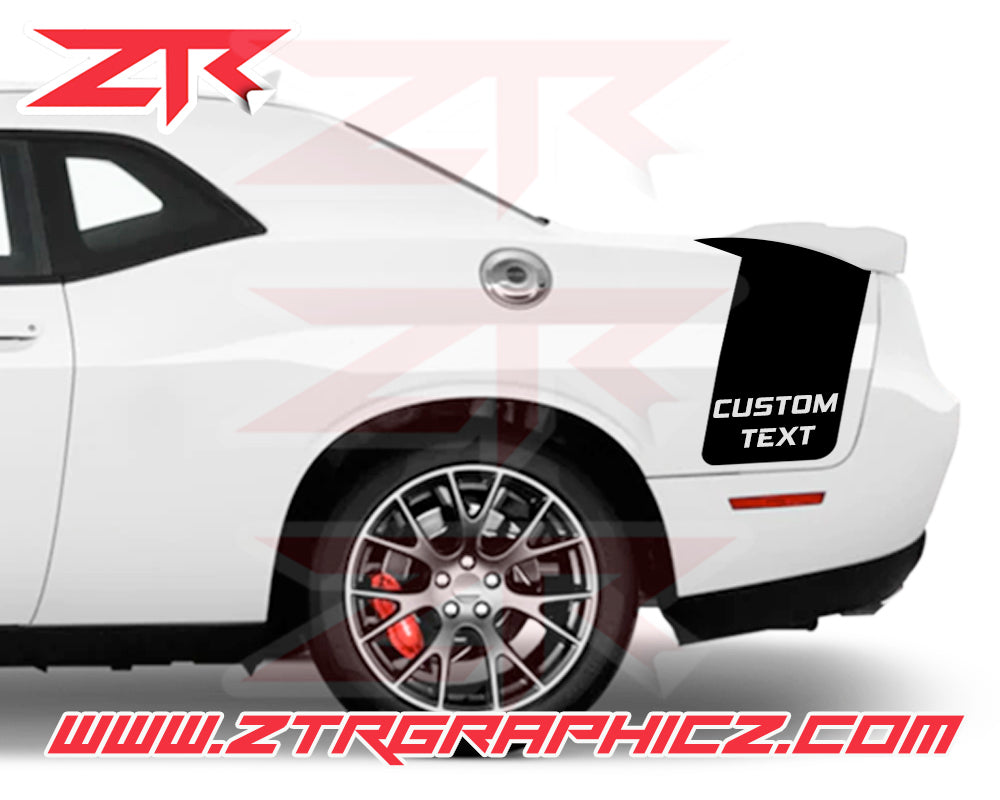 Dodge Challenger Drag Pack With Custom Text Stripes