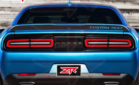 2015-2020 Dodge Challenger Custom Text  Spoiler Blackout Decal