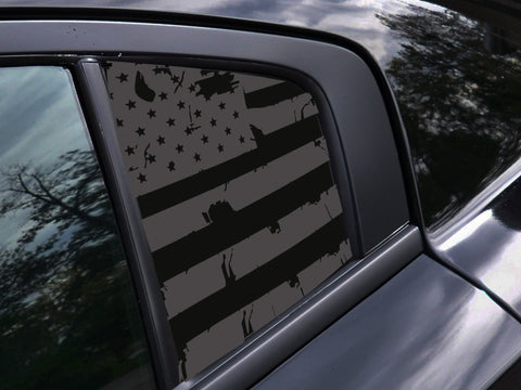 Dodge Charger Distressed American Flag Window Decal