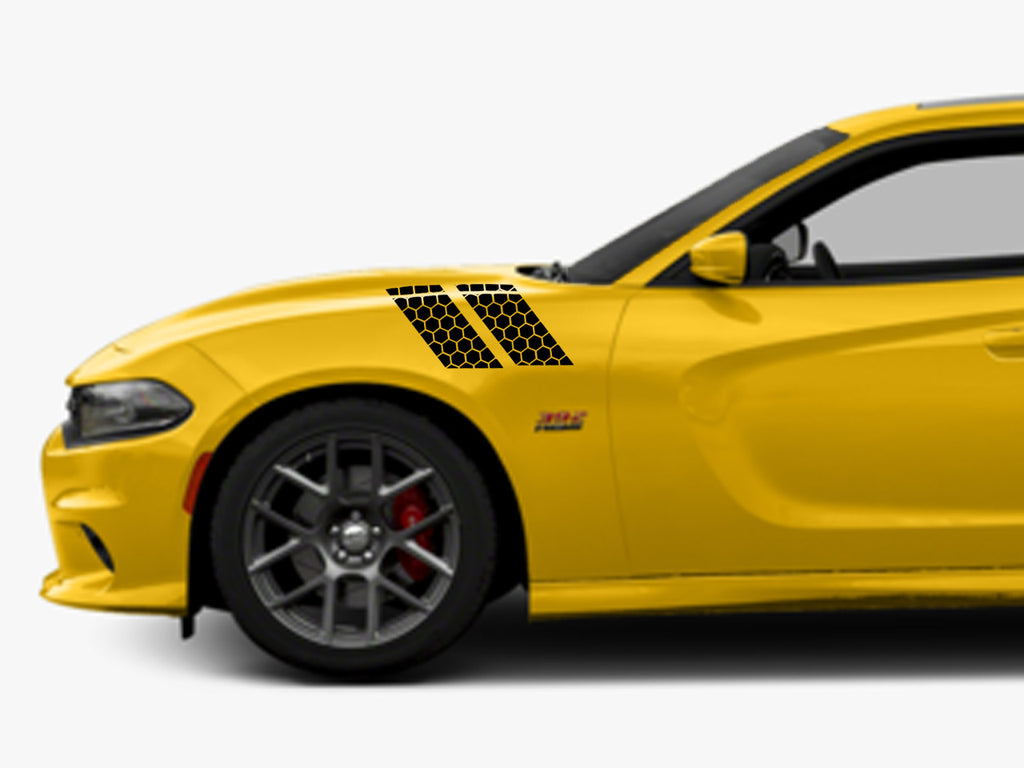 2015 2020 Custom Dodge Charger Scatpack Honeycomb Fender Stripes Ztr Graphicz