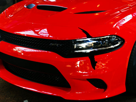Dodge Charger Headlight Single Claw Scratch Mark Decal Graphic Sticker