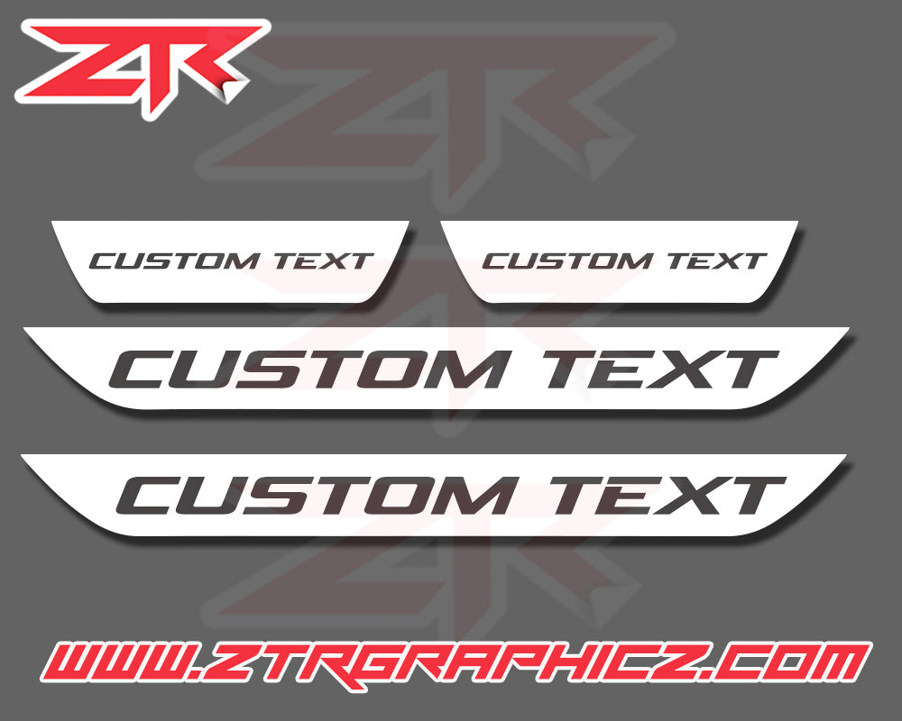 Dodge Charger Custom Text Door Sill Decals