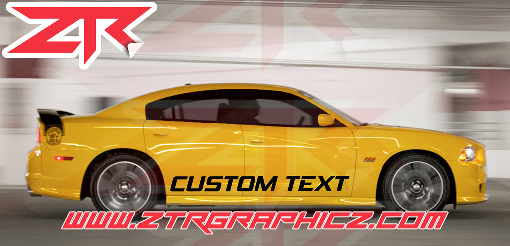 Custom Dodge Charger Body Decals