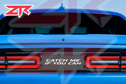 2015-2020 Dodge Challenger Catch Me if You Can Taillight Divider Decal