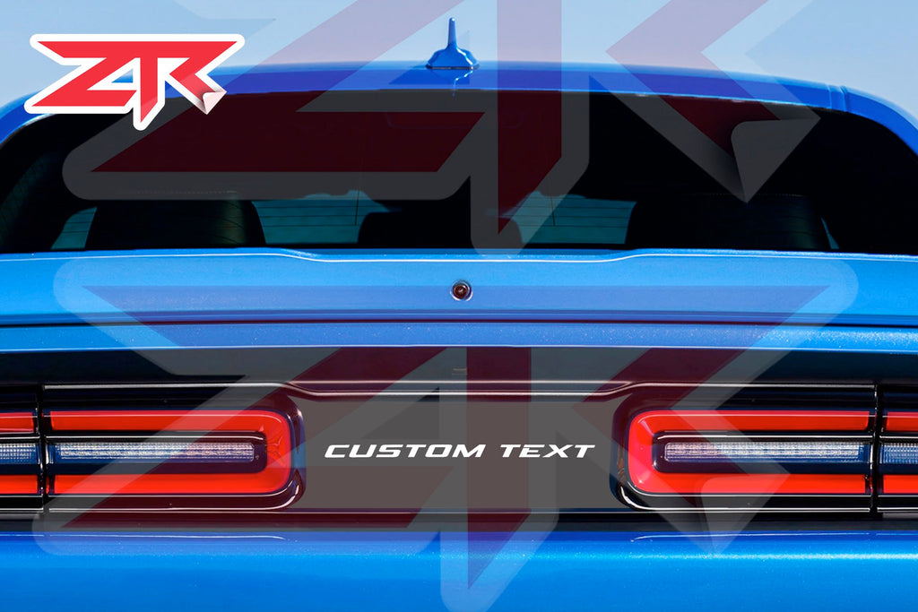 2015-2020 Dodge Challenger Custom Text or Logo Taillight Divider Decal