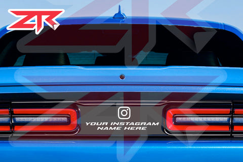2015-2020 Dodge Challenger Custom Instagram Taillight Divider Decal