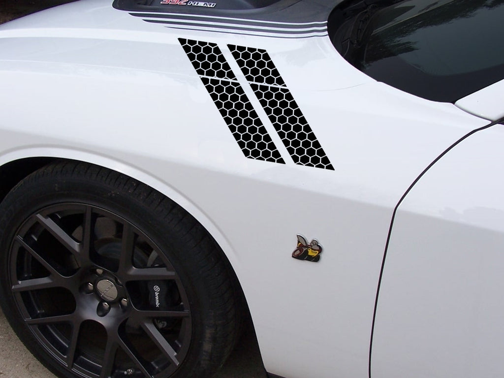 2015-2020 Custom Dodge Challenger Scatpack Honeycomb Fender Stripes