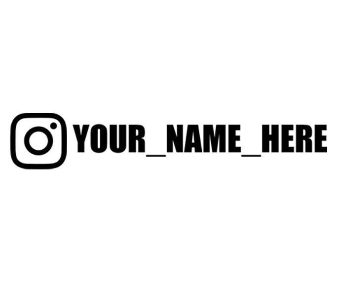 Custom Instagram Vinyl Decal Sticker