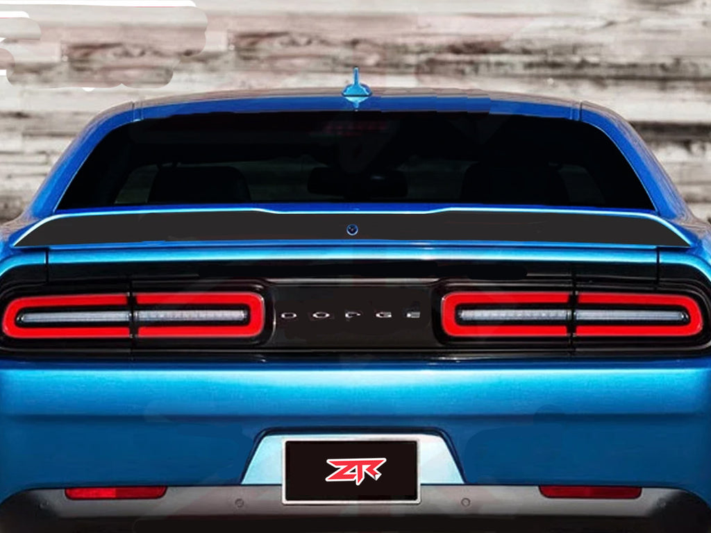 2015 2020 Dodge Challenger Custom Spoiler Blackout Decal Ztr Graphicz