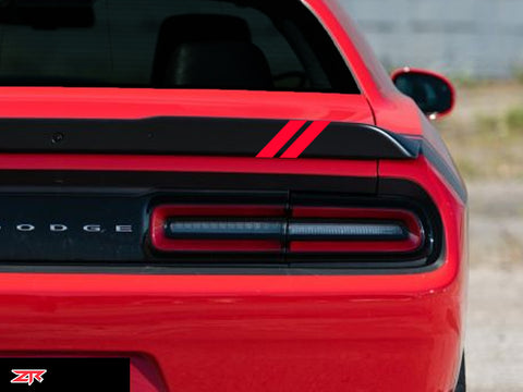 Dodge Challenger Spoiler Stripe Decals