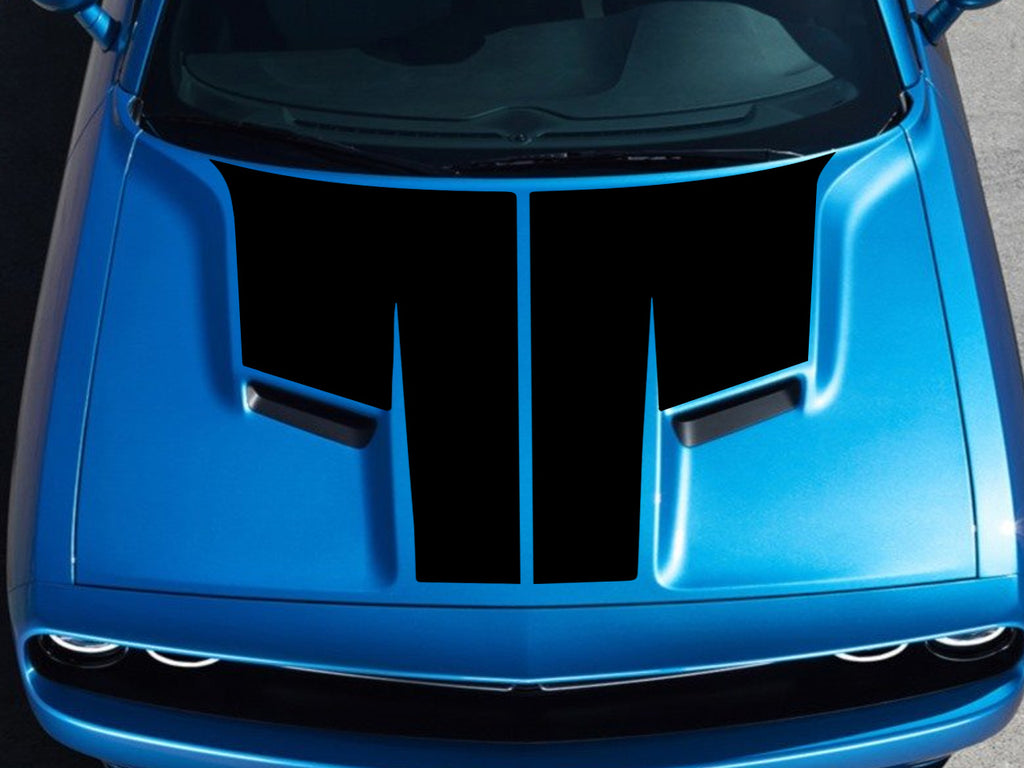 2015-2020 Dodge Challenger T Hood OEM Racing Stripes