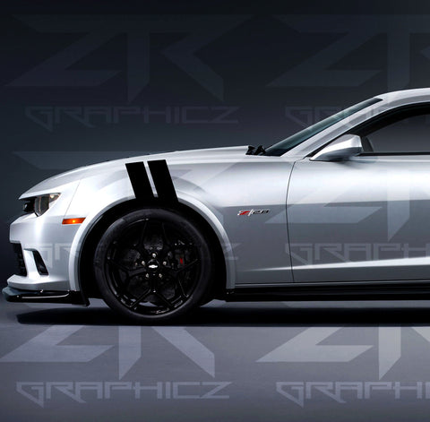Chevy Camaro Dual Fender Stripe, Hash Mark, Stripe Decal Graphic Kit - ztr graphicz