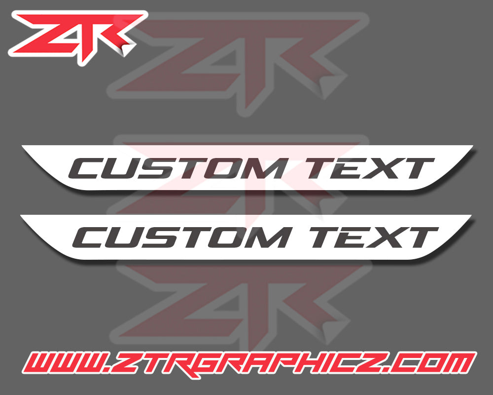 Dodge Challenger Custom Text Door Sill Decals