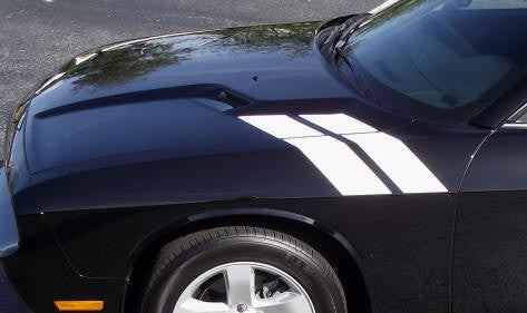 Dodge Challenger Dual Fender Stripe Hash Mark Stripe