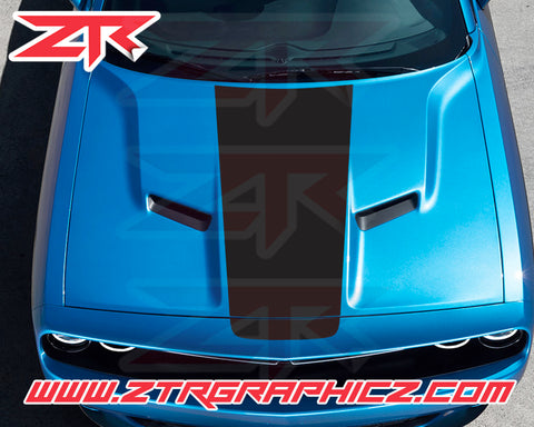 2015-2020 Dodge Challenger Custom Solid Hood OEM Racing Stripe Decal